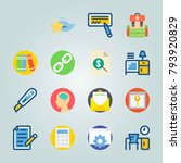icon set about education and... | Shutterstock .eps vector #793920829