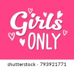 hen party girls only... | Shutterstock .eps vector #793921771