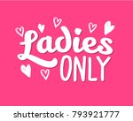 hen party ladies only... | Shutterstock .eps vector #793921777