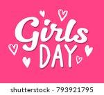 hen party girls day...   Shutterstock .eps vector #793921795