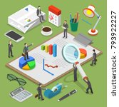 financial audit flat isometric... | Shutterstock .eps vector #793922227