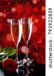 valentines day celebration with ... | Shutterstock . vector #793922839