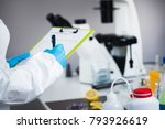 food safety inspector working... | Shutterstock . vector #793926619