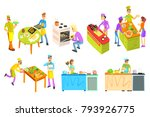 cooking illustrations collection | Shutterstock .eps vector #793926775