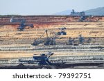 Coal Mining In An Open Pit