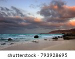 unusual colorful sanset on the... | Shutterstock . vector #793928695