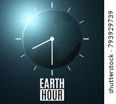 earth hour. futuristic planet... | Shutterstock .eps vector #793929739
