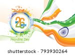 indian republic day background... | Shutterstock .eps vector #793930264