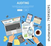 auditing  tax process... | Shutterstock .eps vector #793930291