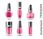 realistic nail polish set 3d... | Shutterstock .eps vector #793930399