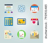 icon set about marketing. with... | Shutterstock .eps vector #793931485