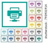 network printer flat color... | Shutterstock .eps vector #793931914