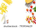 ingredients for cooking paste... | Shutterstock . vector #793934629