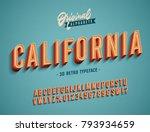 """california"" vintage 3d... | Shutterstock .eps vector #793934659"