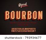 """bourbon"" vintage 3d alphabet.... | Shutterstock .eps vector #793934677"