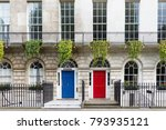 luxurious old town house with a ... | Shutterstock . vector #793935121