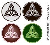 celtic knots  set of icons.... | Shutterstock .eps vector #793937377