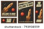 vector illustration of space... | Shutterstock .eps vector #793938559