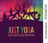 yoga fitness concept. vector...   Shutterstock .eps vector #793938709