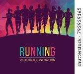 running marathon  people run ... | Shutterstock .eps vector #793939165
