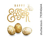 easter card with realistic... | Shutterstock .eps vector #793940644