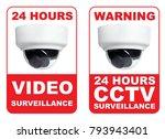 double 24 hours cctv video... | Shutterstock . vector #793943401
