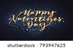 happy valentines day lettering... | Shutterstock .eps vector #793947625