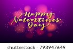 happy valentines day lettering... | Shutterstock .eps vector #793947649