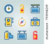 icon set about travel. with... | Shutterstock .eps vector #793948249