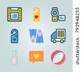 icon set about travel. with... | Shutterstock .eps vector #793948255