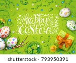 vector card with realistic 3d... | Shutterstock .eps vector #793950391