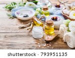 spring spa still life wellness... | Shutterstock . vector #793951135