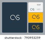 letters c s  c s joint logo...   Shutterstock .eps vector #793953259