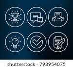 set of light bulb  verify and... | Shutterstock .eps vector #793954075