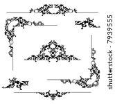 floral ornament   vector frame... | Shutterstock .eps vector #7939555
