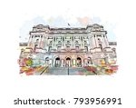 library of congress in... | Shutterstock .eps vector #793956991