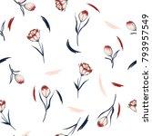 trendy wildflower tulip... | Shutterstock .eps vector #793957549