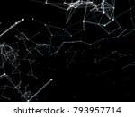 global network connections with ... | Shutterstock . vector #793957714