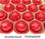 chocolate red pralines | Shutterstock . vector #793960099