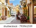 rethymno  greece   may 3  2016  ... | Shutterstock . vector #793961539