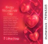 happy valentine day  heart love ... | Shutterstock .eps vector #793965205