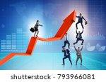 business people in economic... | Shutterstock . vector #793966081
