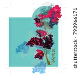 cherry blossom red packet... | Shutterstock .eps vector #793966171