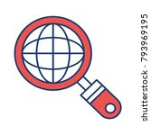 browsing world magnifier | Shutterstock .eps vector #793969195