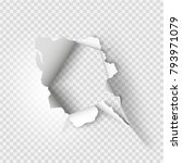 ragged hole torn in ripped... | Shutterstock .eps vector #793971079