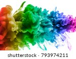 acrylic colors and ink in water.... | Shutterstock . vector #793974211