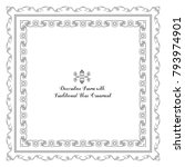 set of frames with decorative... | Shutterstock .eps vector #793974901