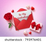 be my valentines greeting card... | Shutterstock .eps vector #793976401