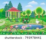 vector landscape a beautiful... | Shutterstock .eps vector #793978441