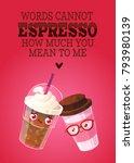 romantic valentine's day card.... | Shutterstock .eps vector #793980139